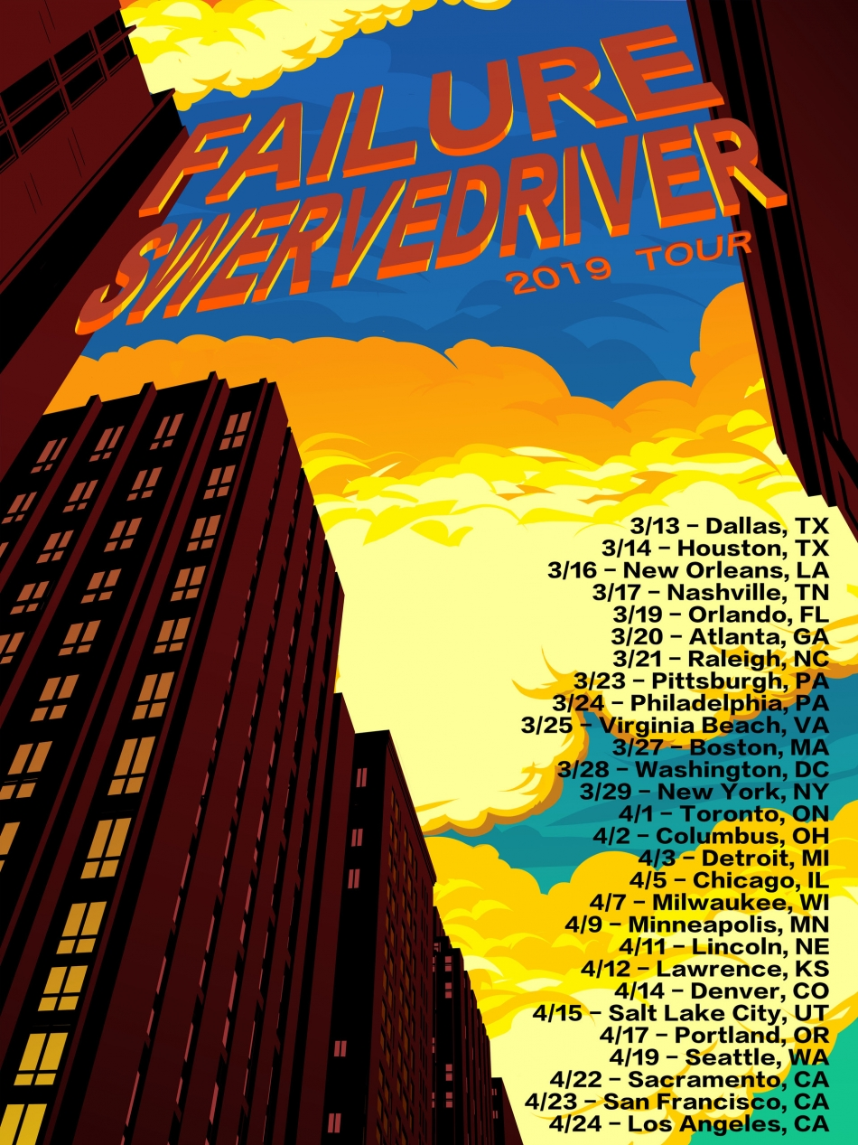FAILURE ANNOUNCE NORTH AMERICAN TOUR; SWERVEDRIVER ON BOARD FOR 7-WEEK TREK