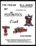 The Psychotics, Angel City Outcasts, Ragtime Revolutionaries, Civet, Thretning Verse