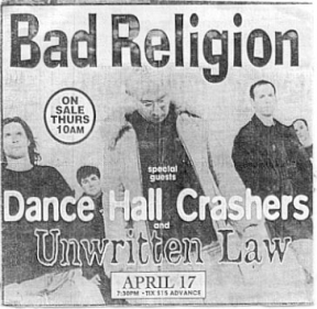 Bad Religion, Dance Hall Crashers, Unwritten Law