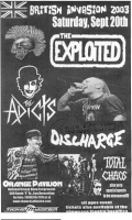 The Exploited, The Adicts, Discharge, Total Chaos