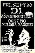 D.I., Government Issue, Don't No, Bulimia Banquet