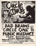 Circle One, Circle Jerks, Bad Brains, Public Nuisance