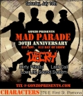 Mad Parade, Decry, Dirty Priests, Last Call, Low Life Sound System