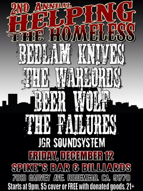 The Warlords, Bedlam Knives, The Failures, Beer Wolf