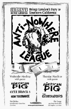 Non Tolerance, Cell Block 5, American Pig, Anti-Nowhere League