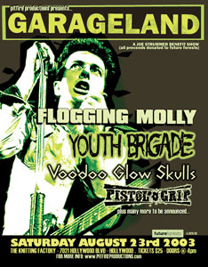 Blue Collar Special, Flogging Molly, Youth Brigade, Voodoo Glow Skulls, Pistol Grip