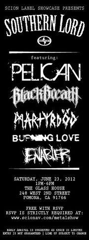 Pelican, Black Breath, Martyrod, Burning Love, Enabler @ The Glass House